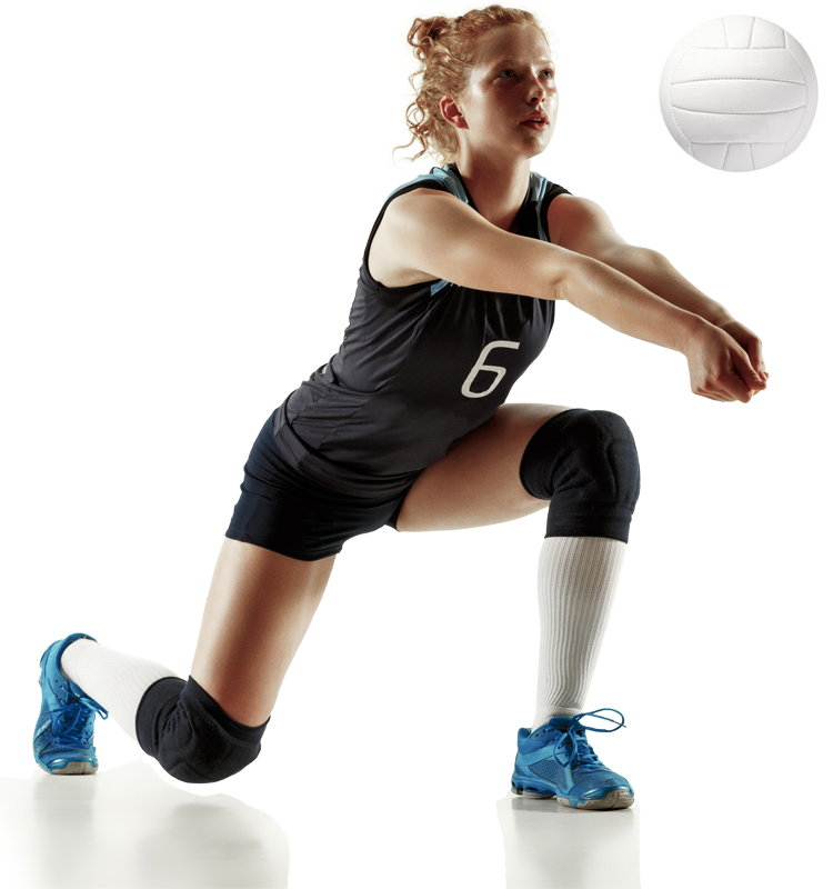 female volley ball player hitting ball, uplift athletes